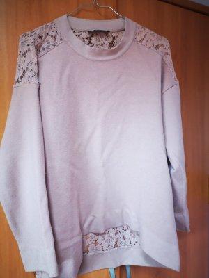 Zara Knit Oversized Sweater dusky pink
