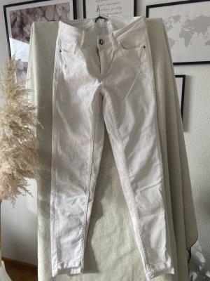 Zara Jeansy rurki biały
