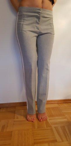 Zara Basic pantalón de cintura baja amarillo Poliéster