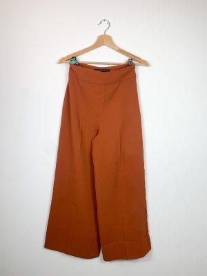 Zara Falda pantalón de pernera ancha coñac