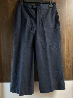 Zara Woman Falda pantalón de pernera ancha azul oscuro