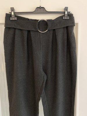 Zara Pantalón de lana gris-negro