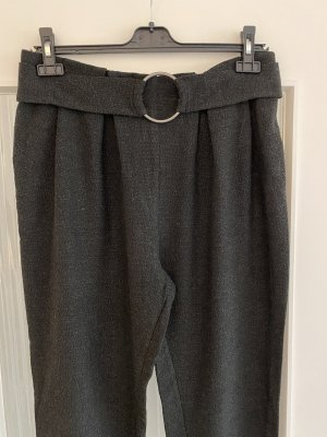 Zara Pantalon en laine gris-noir