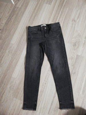 Zara Pantalone a vita bassa grigio scuro