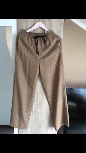 Zara Pantalone culotte marrone-beige
