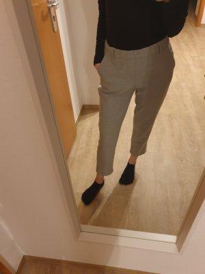 Zara Trafaluc Pantalone jersey bianco-grigio chiaro