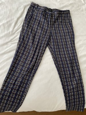 Zara Corduroy Trousers dark blue