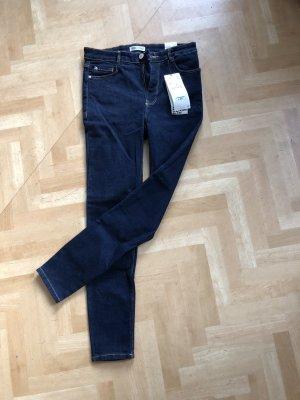Zara Pantalón de tubo azul-azul oscuro