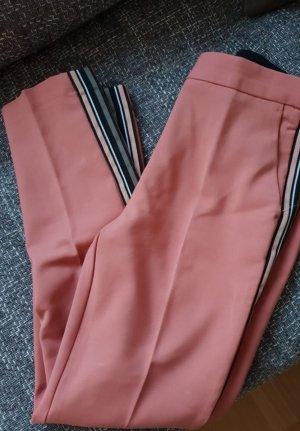 Zara Pantalón de pinza rosa-negro