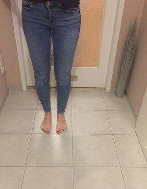 Zara Trafaluc Pantalon taille haute bleu