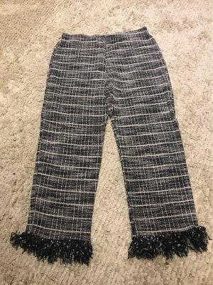 Zara Pantalon strech blanc-noir