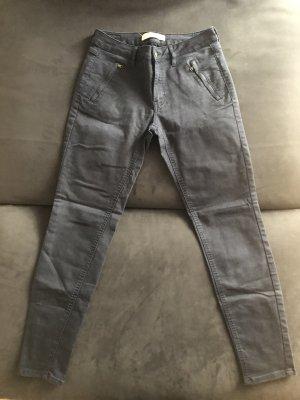 Zara Stretch broek donkerblauw