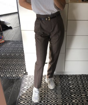 Zara Hose Hahnentritt Glencheck kariert Business High waist Bügelfalte ankle cropped