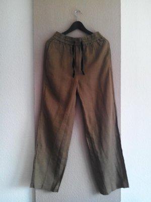 Zara Hose in khaki aus 100% Leinen, Größe M, neu