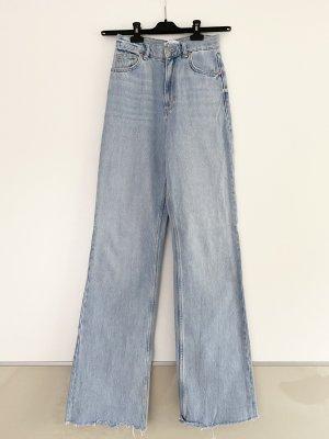 ZARA Hose Jeans High Waisted Wide Leg Breit Weit Ausverkauft Blogger