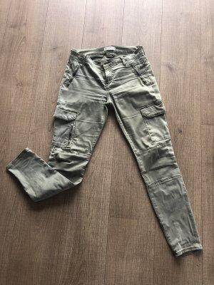 Zara Hose Khaki Cargo grün Skinny 36 Jeans