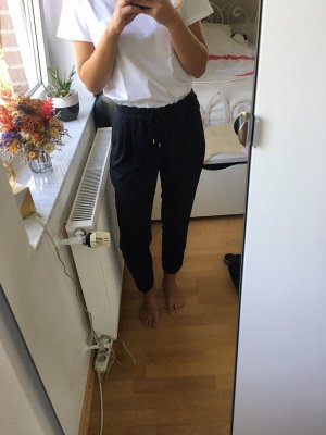 Zara Peg Top Trousers black-white lyocell
