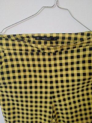 Zara Pantalon chinos noir-jaune