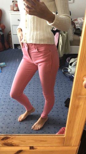Zara Pantalón de tubo rosa-rosa