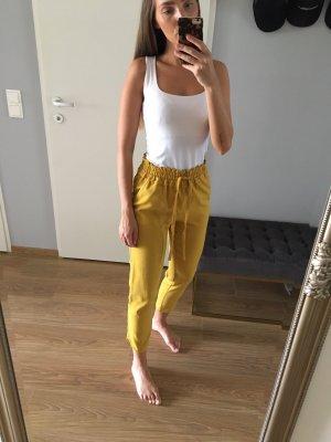 Zara Hose Senfgelb High Waist XS