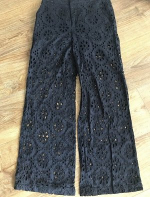 Zara pantalón de cintura baja negro