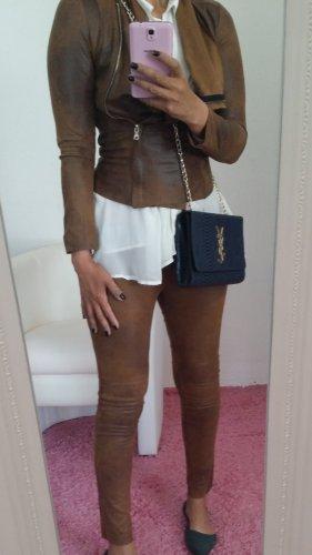 Zara Woman Tailleur-pantalon bronze