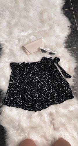 Zara Falda pantalón negro-blanco