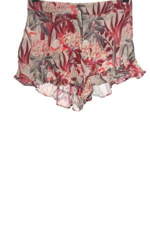 Zara Hot Pants Allover-Druck Casual-Look