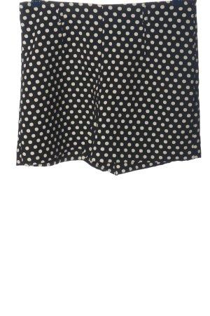 Zara Hot Pants schwarz-wollweiß Punktemuster Casual-Look