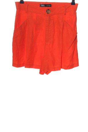 Zara Hot Pants hellorange Casual-Look