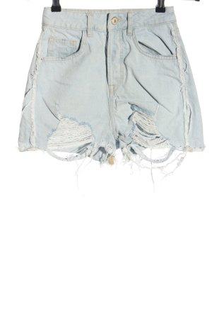 Zara Hot Pants türkis Casual-Look