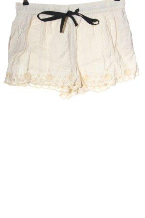 Zara Short moulant blanc cassé style décontracté