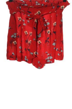 Zara Hot Pants rot Allover-Druck Casual-Look