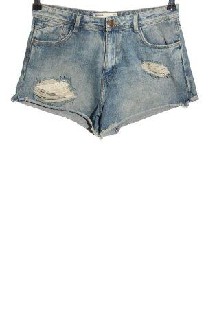 Zara Hot Pants blau Casual-Look
