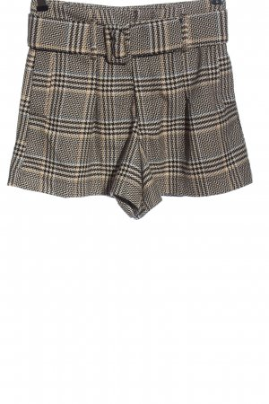 Zara Hot Pants Karomuster Casual-Look