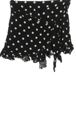 Zara Hot Pants schwarz-weiß Punktemuster Casual-Look