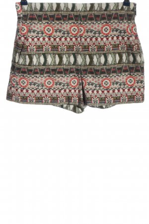 Zara Hot Pants grafisches Muster Casual-Look