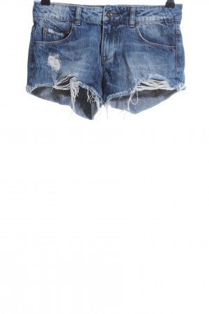 Zara Hot Pants blau Casual-Look