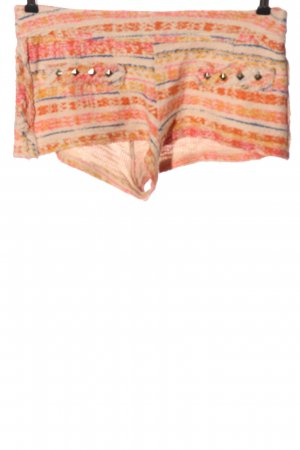 Zara Hot Pants Streifenmuster Casual-Look