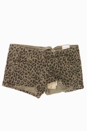 Zara Hotpants Größe 36 mit Tierdruck olivgrün