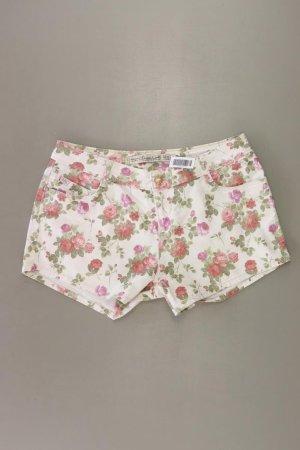 Zara Hotpants Größe 40 mit Blumenmuster creme aus Baumwolle