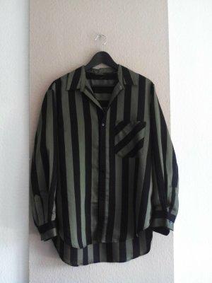 Zara hübche gestreifte Hemdbluse, Premium Collection, Größe M