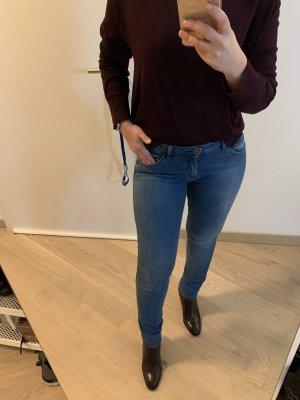 Zara hübsche Blau low waist skinny hose