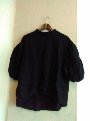 Zara hübsche Bluse in schwarz aus 100% Leinen,  Größe M, neu