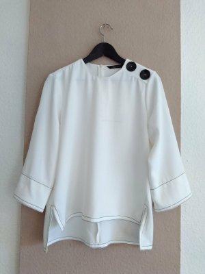 Zara hübsche Bluse in weiss, Größe M, neu