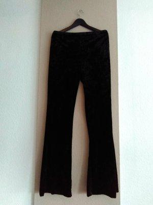 Zara hübsche Flare-Hose in schwarz, Samtoptik, Grösse L, neu