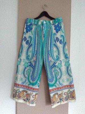 Zara hübsche gemusterte Culotte-Hose aus Baumwolle, Grösse L, neu