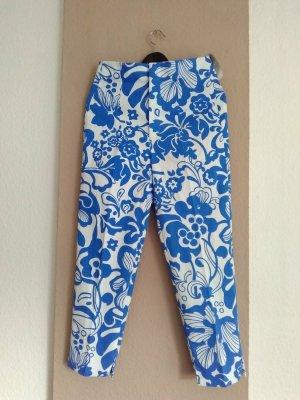 Zara hübsche gemusterte Hose, High Waist-Slim Fit aus Baumwolle, Grösse M, neu