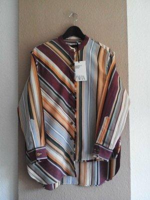 Zara hübsche gestreifte Hemdbluse aus Baumwolle und Leinen, Campaing Collection, Größe S oversize, neu