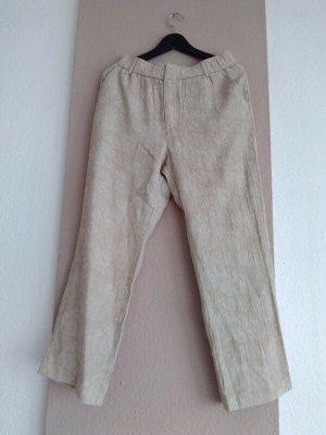 Zara hübsche Hose in beige mit elastischem Bund, Grösse S, neu